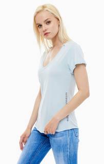 Голубая футболка с принтом Replay