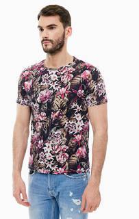 Хлопковая футболка с цветочным принтом Replay