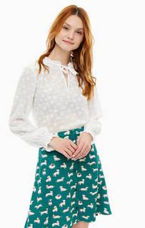 Белая блуза с длинными рукавами Cath Kidston