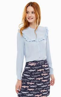 Рубашка синего цвета с оборками Cath Kidston
