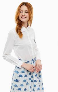 Белая хлопковая рубашка приталенного кроя Cath Kidston