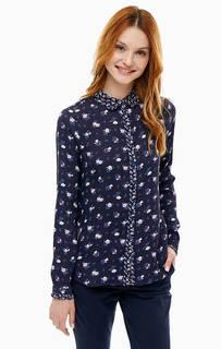 Синяя рубашка с цветочным принтом Cath Kidston