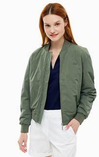 Куртка бомбер цвета хаки Lacoste