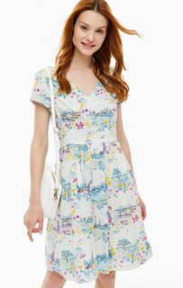 Платье средней длины с треугольным вырезом Cath Kidston