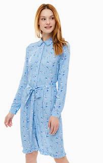 Синее платье-рубашка с расклешенной юбкой Cath Kidston