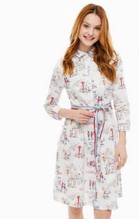 Хлопковое платье-рубашка с поясом Cath Kidston