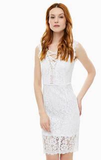 Кружевное платье с декоративной шнуровкой Marciano Guess