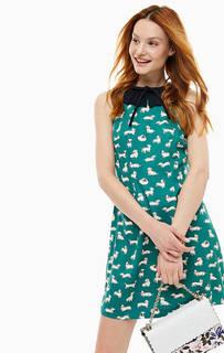 Короткое платье зеленого цвета Cath Kidston