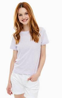 Хлопковая футболка сиреневого цвета Mavi