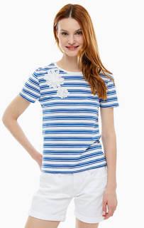 Хлопковая футболка в полоску Mavi