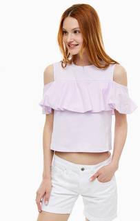 Хлопковая футболка с открытыми плечами Mavi