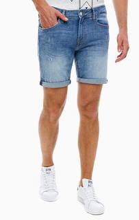 Джинсовые шорты с заломами Guess