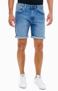 Синие джинсовые шорты с пятью карманами Mavi