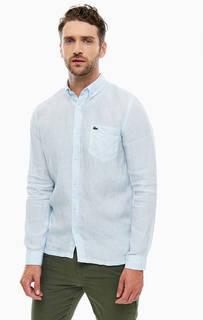 Льняная рубашка с карманом Lacoste