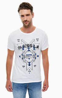 Хлопковая футболка с принтом Guess
