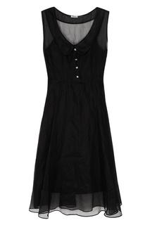 Черное платье из хлопка Miu Miu