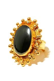 Позолоченное кольцо с гематитом Sylvia Toledano