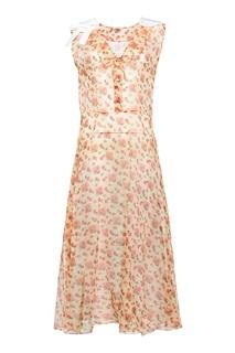 Платье-миди с принтом Miu Miu