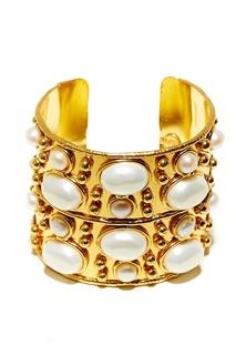 Позолоченный браслет с жемчугом Sylvia Toledano