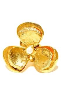 Кольцо-цветок с жемчужиной Sylvia Toledano