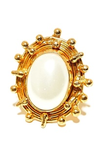 Позолоченное кольцо с жемчугом Sylvia Toledano