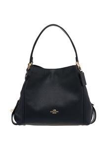 Черная кожаная сумка Eddie Coach