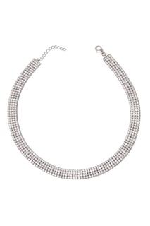Серебряное колье с фианитами Dzhanelli Jewellery