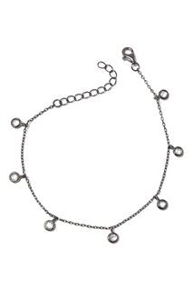 Серебряный браслет с прозрачными подвесками Dzhanelli Jewellery
