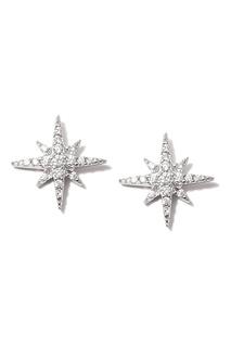Серьги-гвоздики со звездами Dzhanelli Jewellery