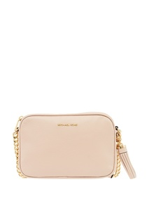 Розовая кожаная сумка Ginny Michael Kors