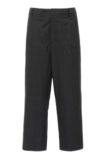 Серые шерстяные брюки Miu Miu
