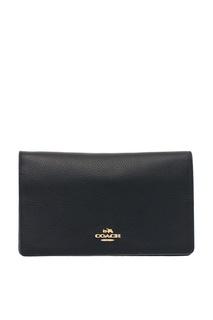 Черная сумка с логотипом Foldover Coach
