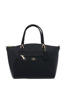 Черная кожаная сумка-тоут Prairie Coach
