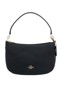 Черная кожана сумка Chelsea Coach