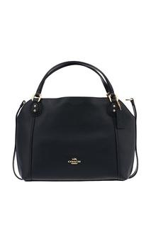 Черная сумка с фигурным верхом Coach