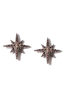 Серьги-пусеты со звездами Dzhanelli Jewellery
