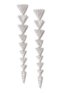 Геометрические серьги с фианитами Dzhanelli Jewellery