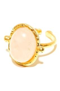 Позолоченное кольцо с розовым кварцем Sylvia Toledano