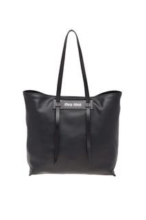 Черная кожаная сумка Grace Luxe Miu Miu