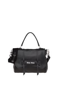 Черная сумка с плечевым ремнем Grace Luxe Miu Miu