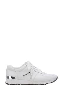 Белые кроссовки из кожи Michael Kors