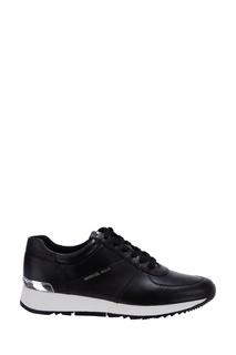 Черные кроссовки из кожи Michael Kors