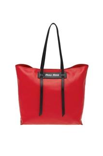 Красная кожаная сумка Grace Luxe Miu Miu