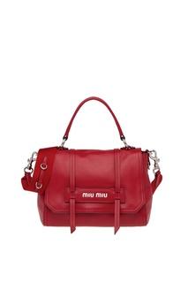 Красная сумка с плечевым ремнем Grace Luxe Miu Miu