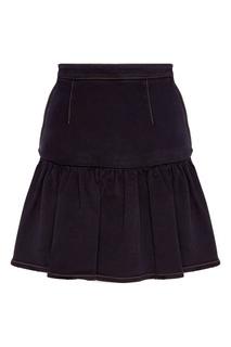 Короткая юбка из стрейч-денима Miu Miu