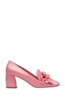 Розовые лакированные туфли с цепочкой Miu Miu