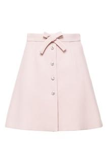 Розовая юбка с пуговицами Miu Miu