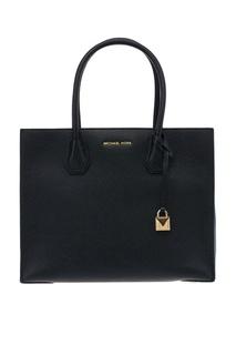 Черная кожаная сумка Mercer Michael Kors