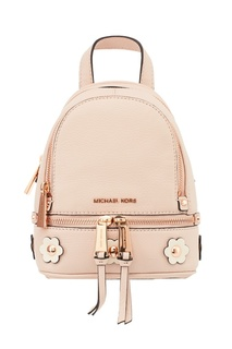 Пудровый рюкзак с аппликацией Rhea Zip Michael Kors