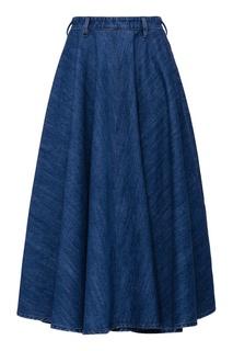 Джинсовая юбка-миди Miu Miu